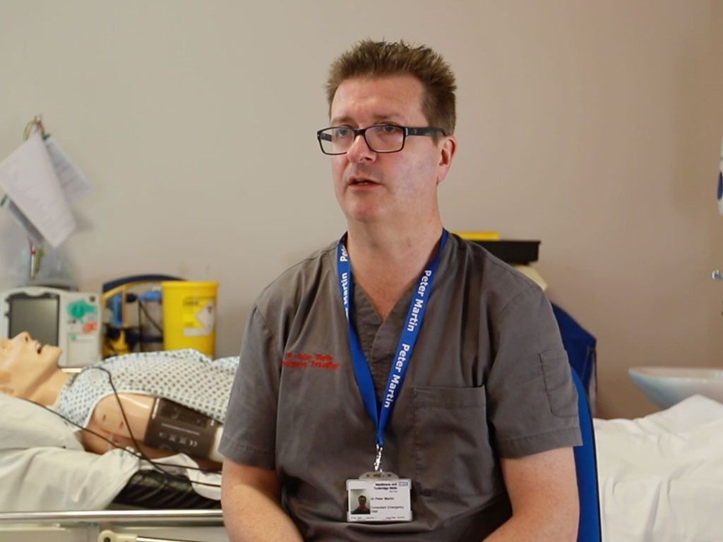 Dr Peter Martin, Emergency Medicine Consultant and  Physician Associate Lead for MTW